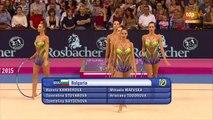 2015 World Rhythmic Gymnastics Championships. Groups. Clubs + Hoops Final. Bulgaria