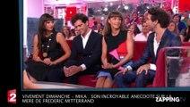 Vivement Dimanche – Mika : Son incroyable anecdote sur la mère de Frédéric Mitterrand