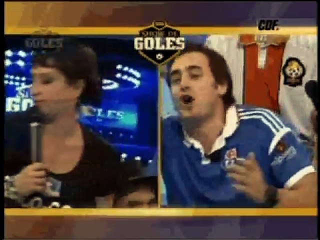 discucion marisela con ariel levy en show de goles