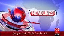 Headlines - 04:00 PM – 14 Sep 15 - 92 News HD