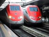Eurostar Freccia Rossa / ETR 500 in partenza da Roma Termini