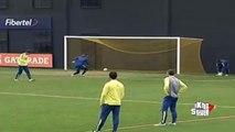 Carlos Tevez Humilla a Calleri y anota un increible gol en el Entrenamiento de Boca Juniors 2015