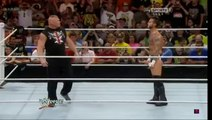 CM Punk return on WWE Brock Lesnar attacks CM Punk on RAW 9/14/2015