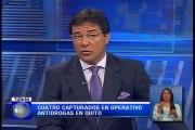 Cuatro capturados en operativo antidrogas en Quito