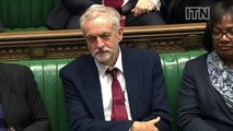 Jeremy Corbyn makes first appearance on front bench as Labour leader