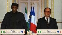 Point presse conjoint avec M. Muhammadu BUHARI, Président de la République fédérale du Nigéria