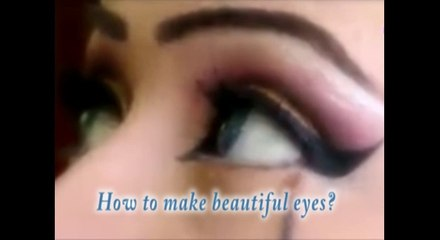 Learn how to apply make up on eyes?