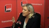 """Marine Le Pen """"Il n'y a parmi les migrants qu'une ultra minorité de réfugiés politiques"""""""