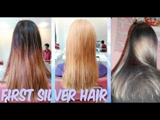 (Hair Journey) First Time Getting Silver/ Ash Blonde Hair Vlog