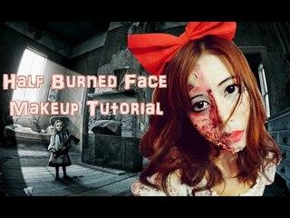 Naokitty's Half Burned Face Makeup Tutorial