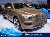 Bentley Bentayga en direct du salon de Francfort 2015