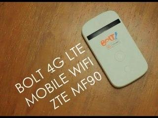 [REVIEW] Bolt 4G LTE Mobile Wifi ZTE MF90