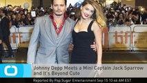 Johnny Depp Meets a Mini Captain Jack Sparrow and It's Beyond Cute