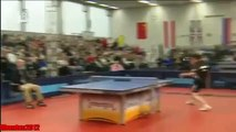 Funny Table Tennis   Jan Ove Waldner Vs Steffen Fetzner Energis Masters 2012