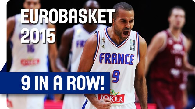 9 in a Row by Tony Parker - EuroBasket 2015