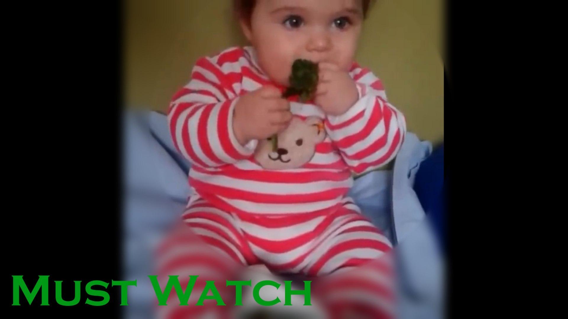 Funny Baby Videos - Cute Baby Eating Broccoli - Cute Baby Videos
