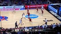 Tony Parker prend feu en quart de l'euro de basket. 9 points de suite !