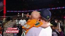Une belle surprise pour cet enfant qui a survécu à un cancer : il va rencontrer les catcheurs John Cena et Sting - WWE Raw