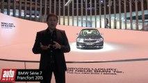 BMW Serie 7 - la berline high-tech dévoilée à Francfort