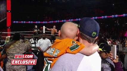 Une belle surprise pour cet enfant qui a survécu à un cancer  il va rencontrer les catcheurs John Cena et Sting - WWE Ra