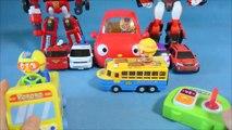 Pororo sans fil de ville de bus peut décoller plusieurs voitures ou un robot plus grand producteur mondial de jouet Pororo mini voitures et Tobot jouets