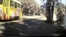 Lucky guys gone tram tracks