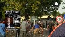 Refugiados: un corresponsal de euronews describe la tensa situación en la frontera húngara