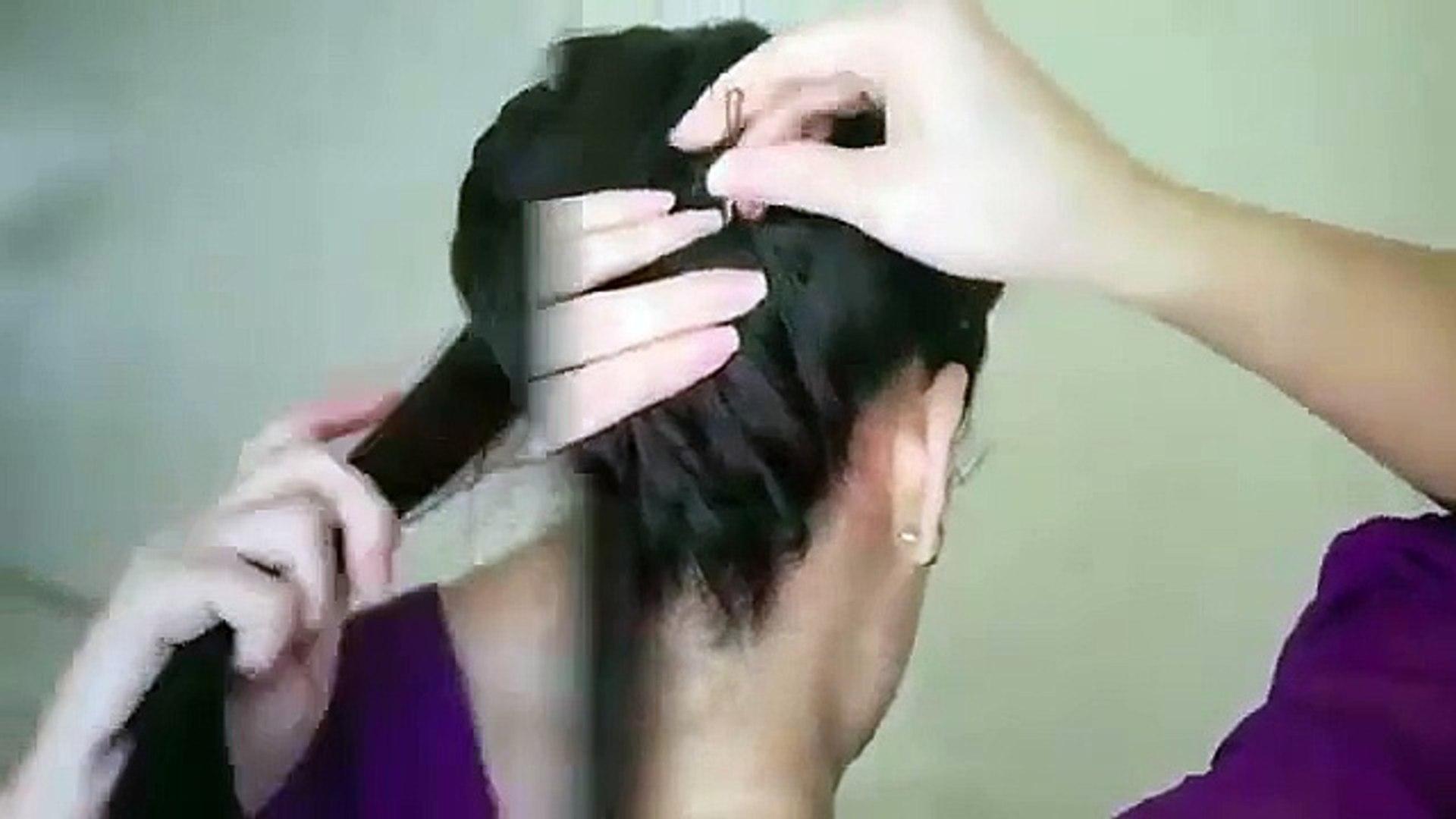 Easy hair style tutorial hair bun