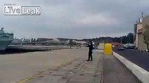 Portuguese navy's drone launch fail