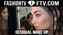 Makeup styling at Desigual Spring/Summer 2016 | New York Fashion Week | FTV.com
