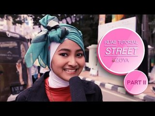 New Simple ZOYA Hijab Tutorial On The Street 2015 Part 2 ​​​| Beauty Hijab Tutorial