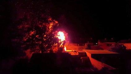 Incendie à Denain