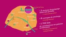 Animation présentant le réseau d'eau non potable de Paris