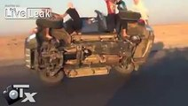 insane!!... changing two tires while driving in Saudi arabia