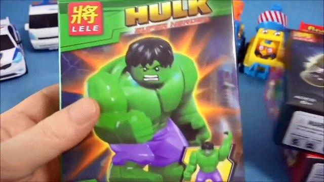 LEGO Hulk pororo ou robot 4 type Super encore une rose Hulk LEGO Simpsons jouets unboxing hulk jouets