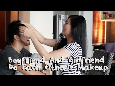 Boyfriend And Girlfriend Do Each Other's Makeup Challenge - INDONESIA