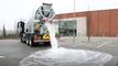 4000 litres d'eau absorbés par une route magique