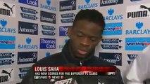 Tottenham Vs Newcastle 5-0 - Louis Saha & Emmanuel Adebayor Interviews - February 11 2012 - [HQ]