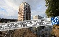VIsite de la plus belle chambre de la nouvelle maison universitaire internationale de Strasbourg