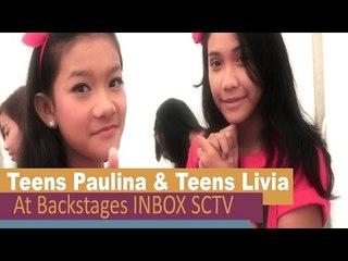 Teens Paulina n Teens Livia @BackStage INBOX SCTV