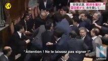 Japon : les sénateurs s'empoignent à propos des nouvelles lois de défense