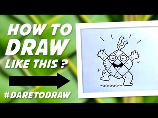 How to Draw Ketupat Happy - Cara Menggambar Ketupat Gembira!