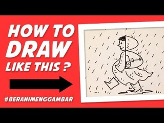 How to Draw a Girl with Raincoat from Letter B!