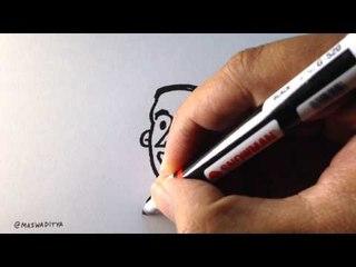 Cara Menggambar Jokowi dari Angka 2! Salam 2 Jari!