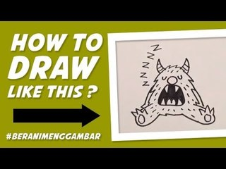 How to Draw Monster Sleeps - Cara Menggambar Monster Lagi Tidur