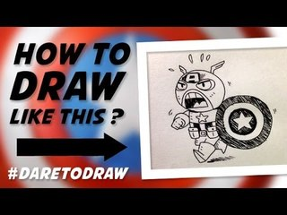 How To Draw A Cute Captain America - Cara Menggambar Kapten Amerika Imut!