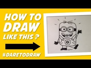 How to Draw Minion - Cara Menggambar Minion