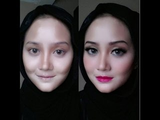 Makeup trick: narrower face (trik wajah lebih lonjong)