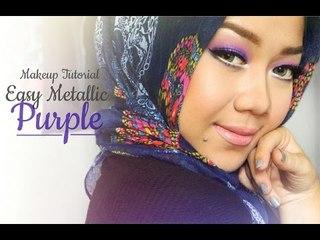 Makeup Tutorial - Easy Metalic Purple Eye makeup    Cheryl Raissa