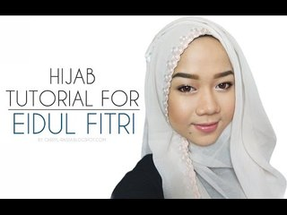 Hijab Tutorial For Eidul Fitri (Square Scarf) - Hijab Tutorial Hari Raya Idul Fitri   Cheryl Raissa